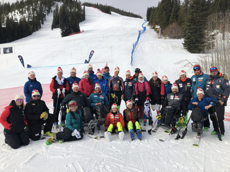 Group picture of Para Alpine team at Canadian Nationals