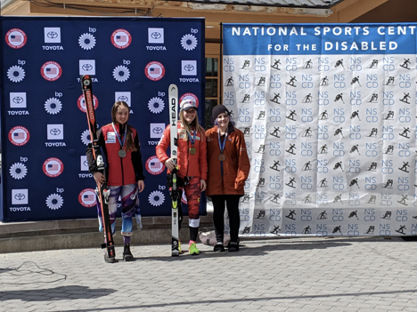 Para Alpine podium finishers including Sarah Gillies