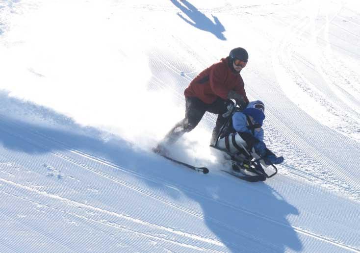 becky till on a sit ski